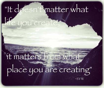 it doesnt matter what life you create